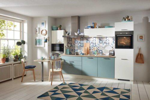 blaue Küche, Pastell küche