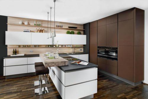 weiße Küche, Küchentheke