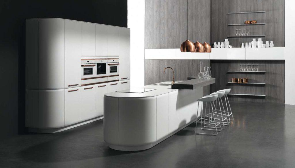 Designer Küche, runde Küche
