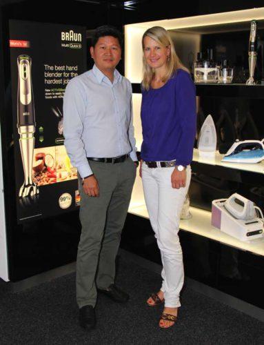 Duy Phong Vu mit Stefanie Bender vom Küchen Journal