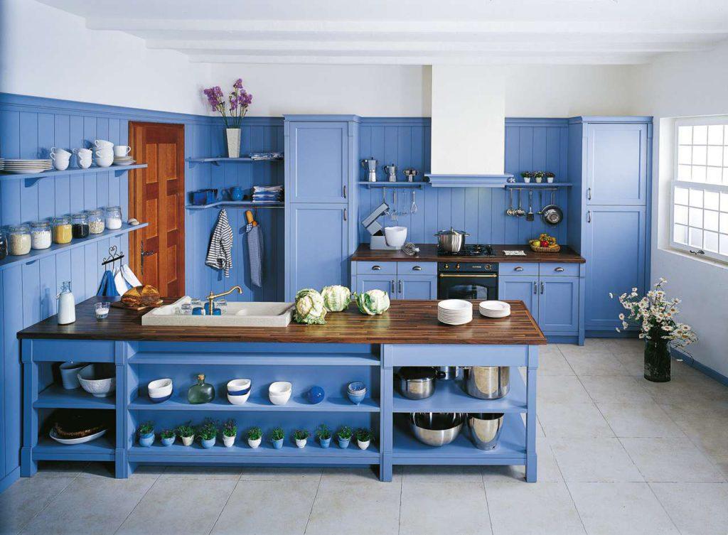 Maryville, SCHMIDT Küchen, himmelblaue küche