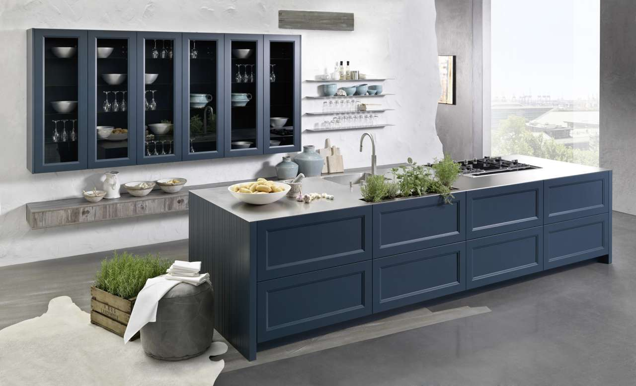 Rational Küchen, Landhausküche, Vintage Küche, Graue Küche, Shaker Stil,