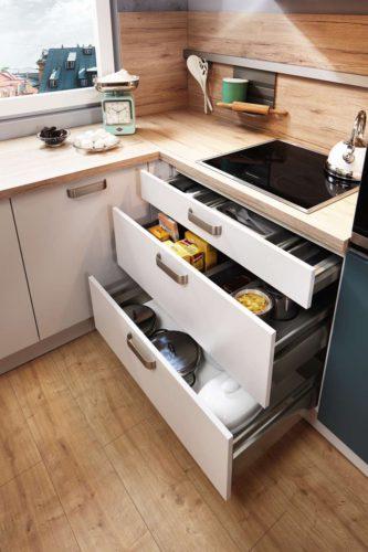 Mit einer guten Planung gelingt die Küche wie gewünscht, auch Ergonomie und Stauräume werden von vornherein angemessen berücksichtigt. Foto: djd/Küchen Quelle GmbH