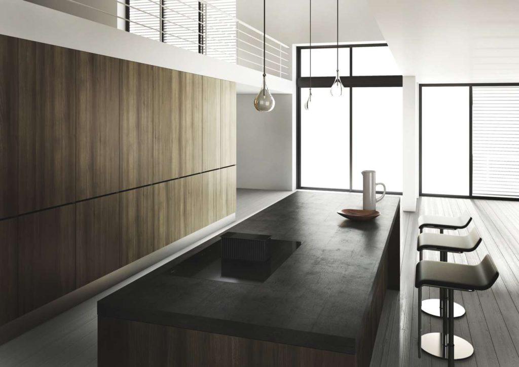One. Die beeindruckende Kombination aus Dunstabzug und Kochfeld. Foto: Novy
