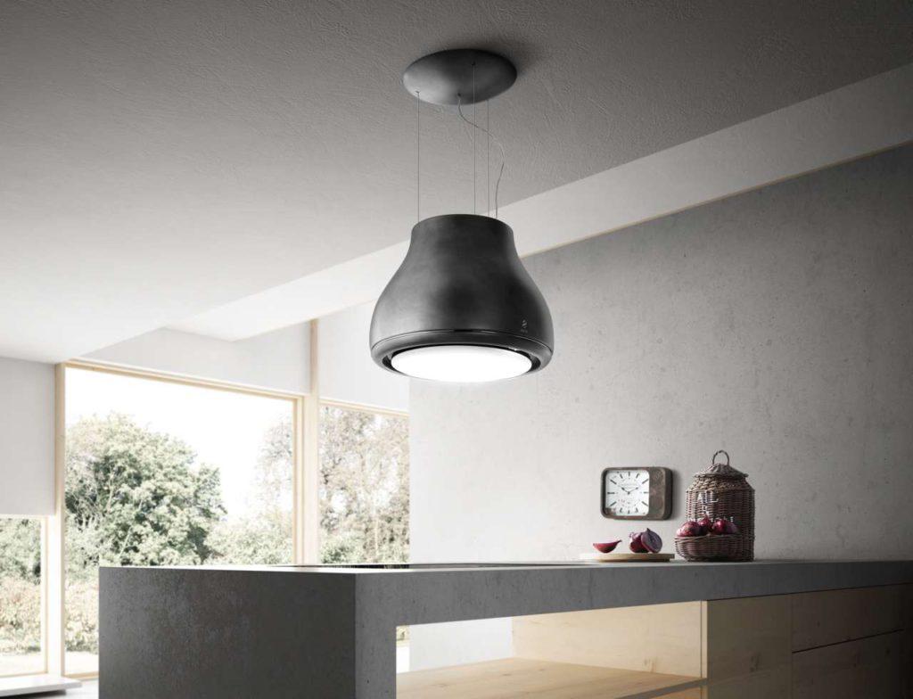 Beleuchtung und Technologie verschmelzen mit Stil und Eleganz.Design Fabrizio Crisà. Foto: Elica