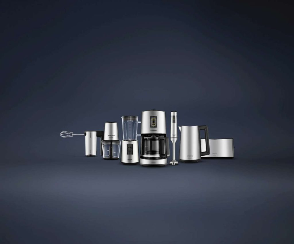 Fast zu schön, um nur in der Küche zu stehen: Die neue Delisia-Serie von Grundig (© Grundig Intermedia