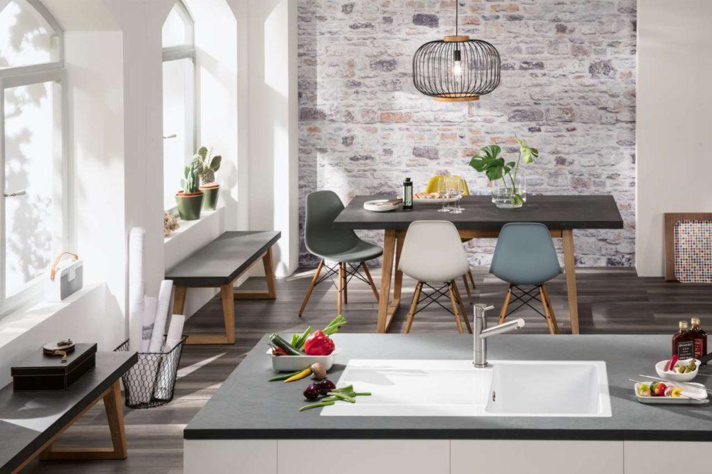 Siluet: Die erste Küchenspüle aus TitanCeram Foto: Villeroy & Boch