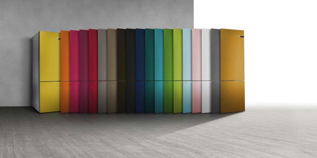 """Der erste Kühlschrank, der seine Farbe ändern kann: Handel wählt Bosch Vario Style zur """"Top 10 Technik"""" 2017. Foto: Bosch"""
