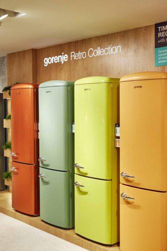 Nicht nur von außen ein Blickfang, auch innen hat der Gorenje Kühlschrank viel zu bieten. Foto: Gorenje