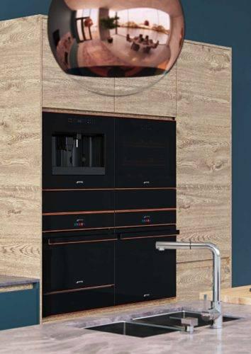 Dieses kompakte Einbaugerät aus der Designlinie Dolce Stil Novo kombiniert ausgewogene Gestaltung mit durchdachter Funktion. Foto: Smeg