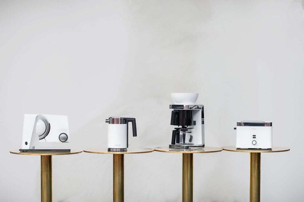 Design Toaster, design Wasserkocher, Design Kaffeemaschine, Design Allesschneider, Graef