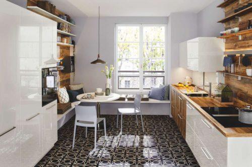 Kleine Küche – einfallsreich geplant von Ballerina Küchen. Foto: Ballerina