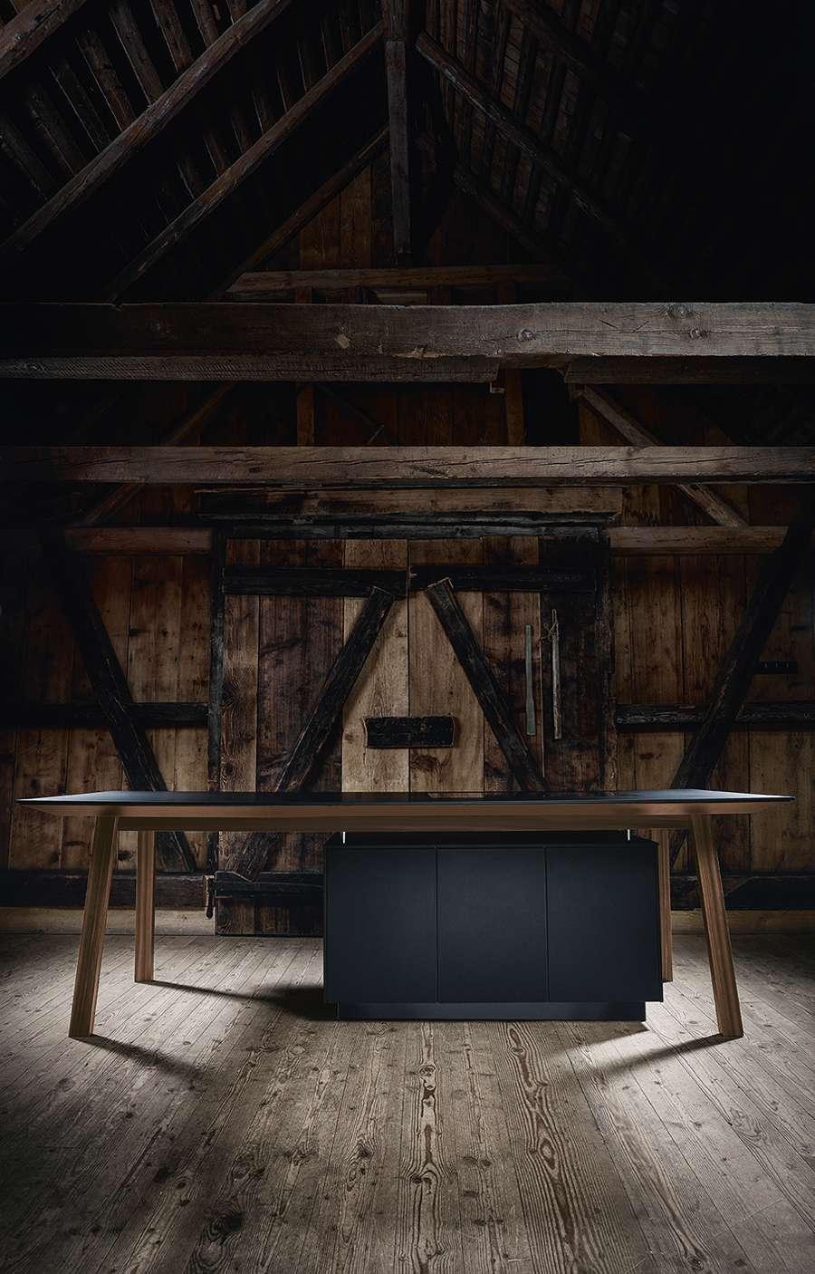 ein puristisches design statement k chen journal. Black Bedroom Furniture Sets. Home Design Ideas