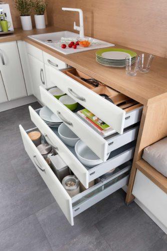 Unterschränke für die Küche gibt es in vielen verschiedenen Varianten und Ausführungen. Foto: djd/Küchen Quelle GmbH