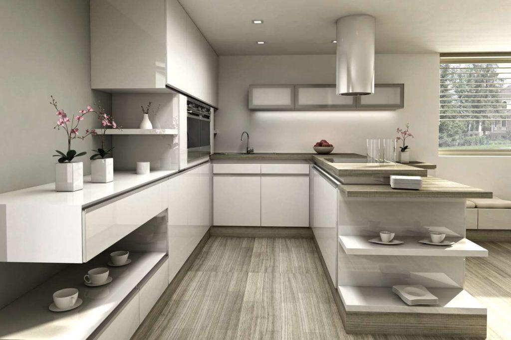 Im Trend liegen aktuell vor allem helle Küchenfronten. Foto: djd/www.beptum.de