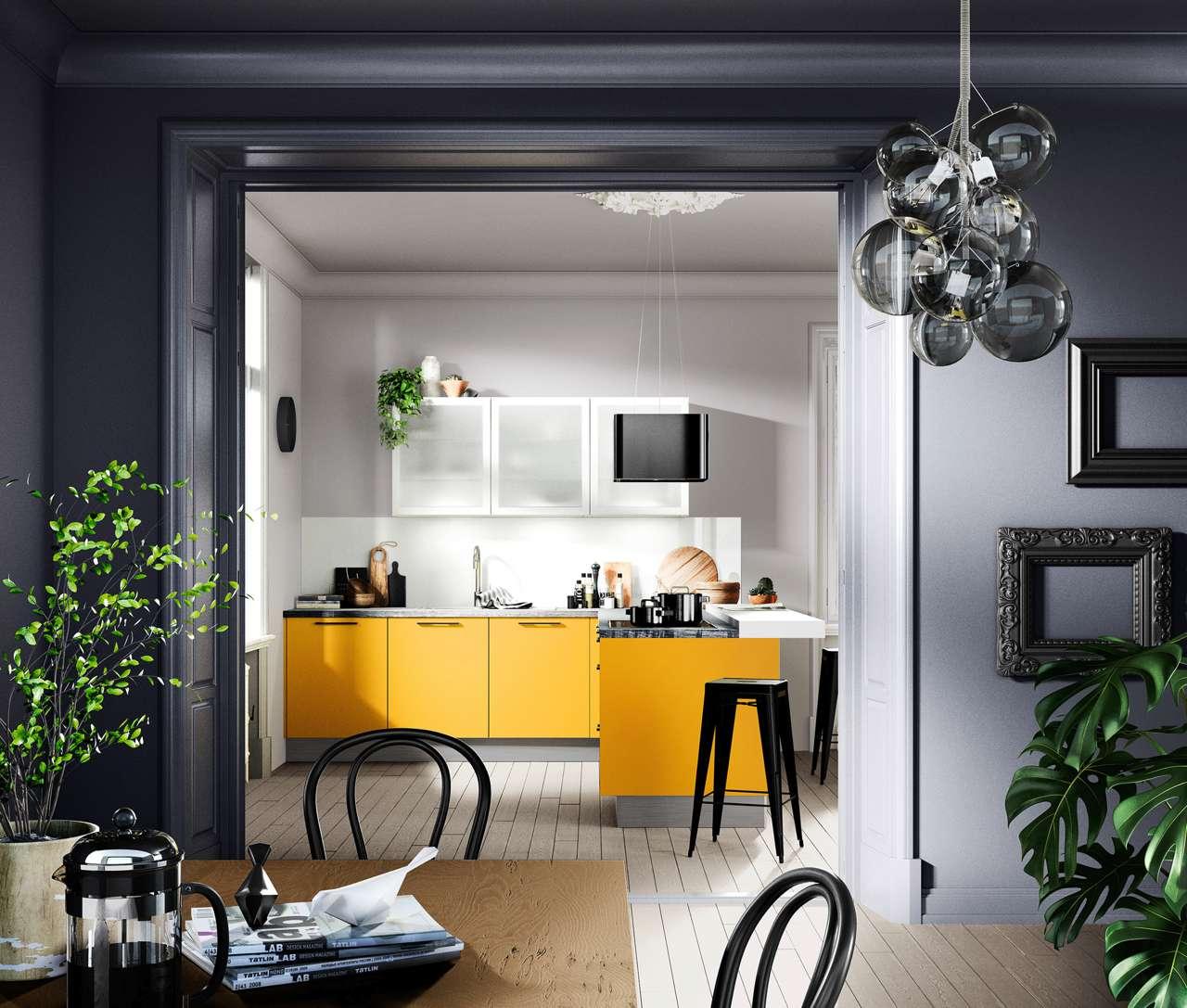 Superieur Gute Laune Bekommt Man Bereits Am Morgen In Dieser Singleküche In  Fröhlichem Gelb. Foto: AMK