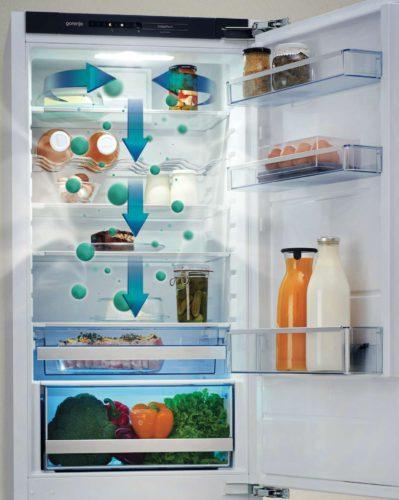 Besonders komfortabel: Alle Lebensmittel können überall im Innenraum der NatureFresh- Modelle gelagert werden. Foto: Gorenje