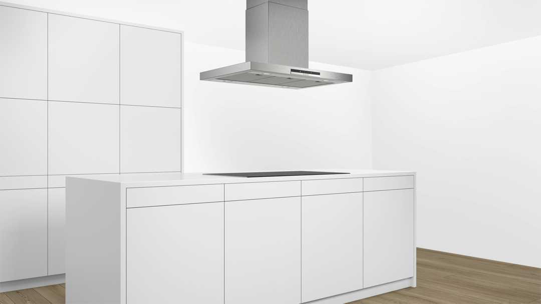 Immer noch gehört die klassische Box-Form zu den beliebtesten Dunsthauben-Designs. Foto: Bosch