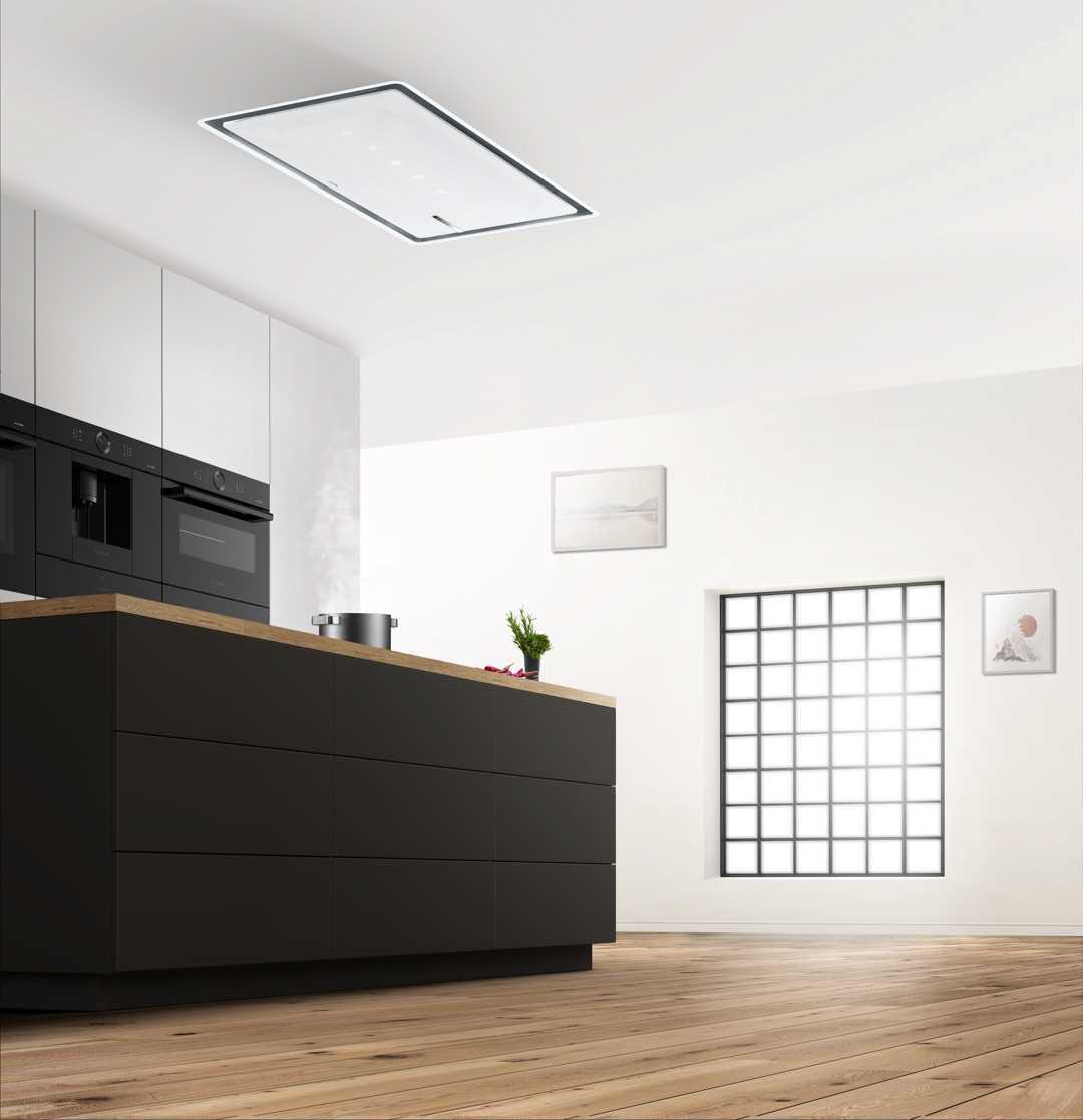 Die Dunstabzugshaube wird nur noch als dezentes Design-Element und durch ihre hervorragende Leistung wahrgenommen. Foto: Bosch
