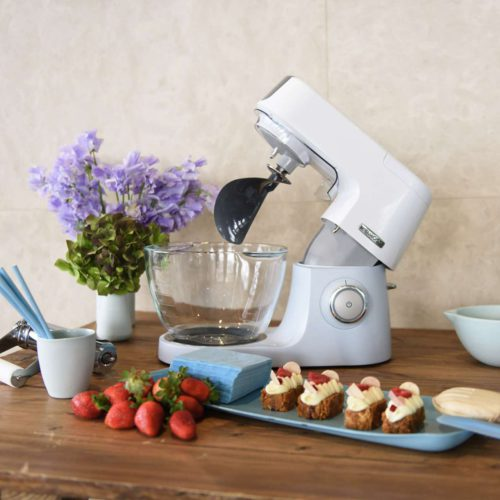 Die Kenwood Chef Sense Colour Collection in Dusted Blue. Foto: Kenwood