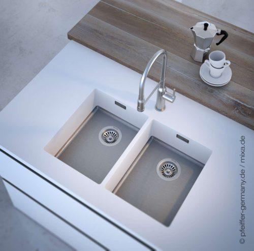 MIXA® war die erste kombinierte Küchenspüle auf dem internationalen Markt. Foto: Pfeiffer GmbH & Co. KG