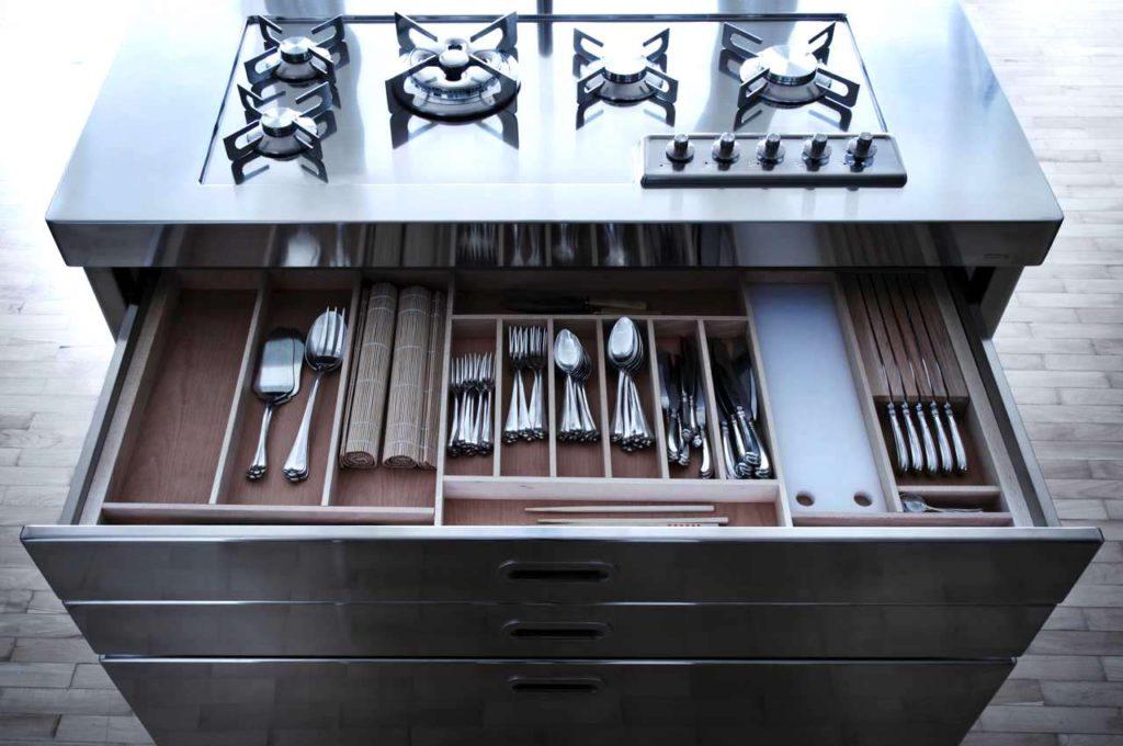 Die Schubladengröße kann individuell angepasst werden. Foto: Alpes-Inox