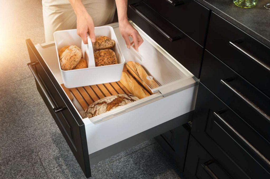 In der Pantry-Box lassen sich Lebensmittel hygienisch lagern. Foto: Hailo-Werk