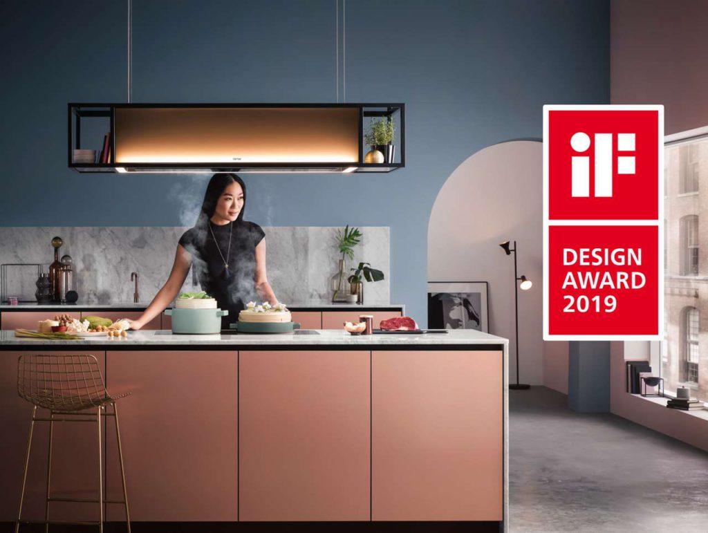 Die Deckenlifthaube Skyline Frame erhält den iF DESIGN AWARD 2019. Foto: berbel