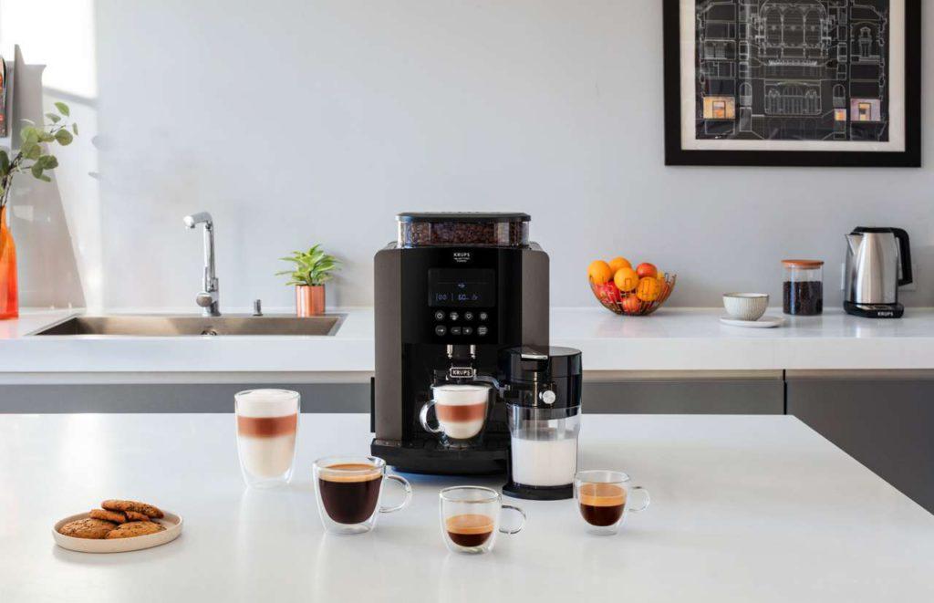 Auf Knopfdruck feinstes Kaffeearoma für zahlreiche Kaffeevarianten. Foto: Krups