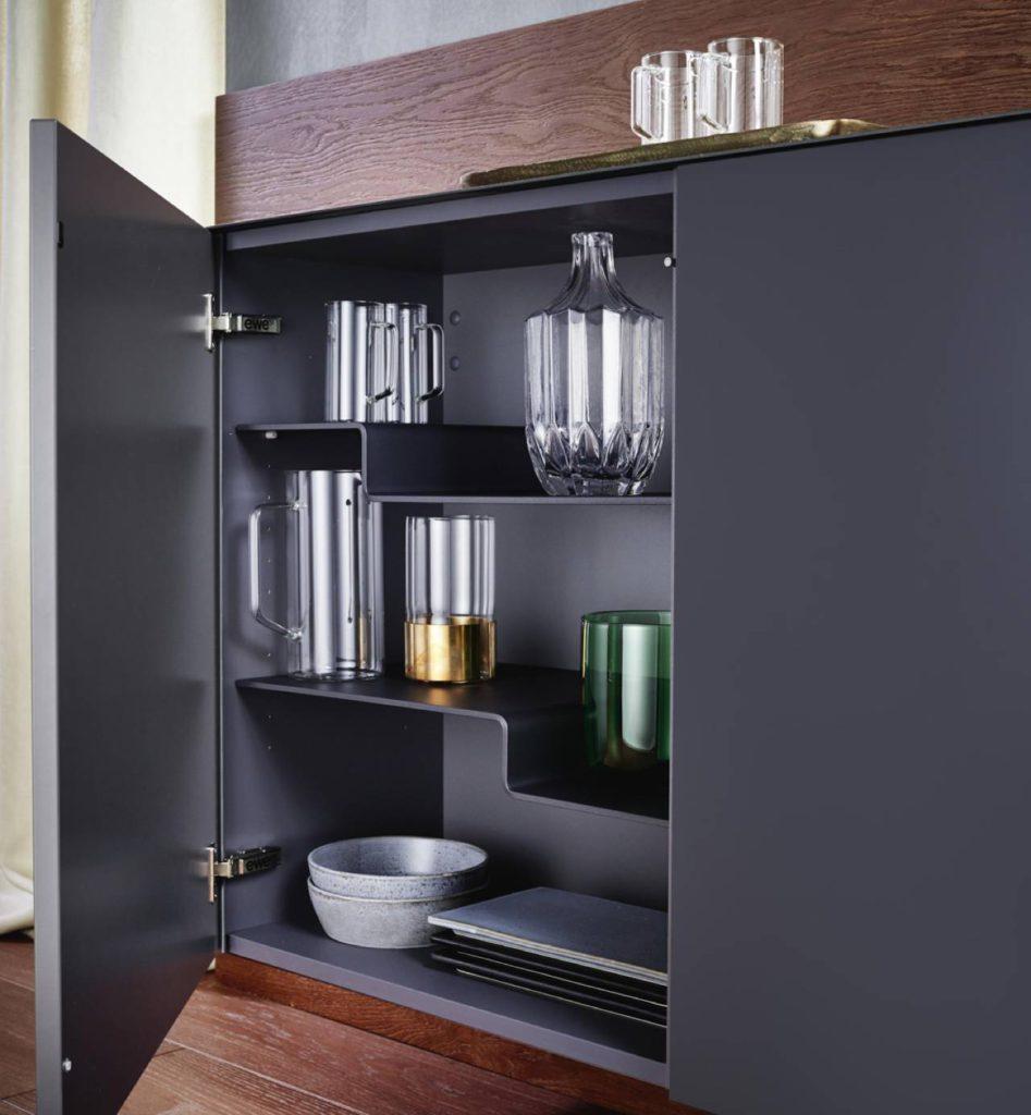 Asymmetrische Fächer bei der ewe50 Küche. Foto: ©ewe