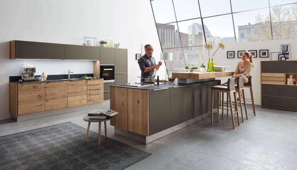 Holzküche, Küche aus Holz