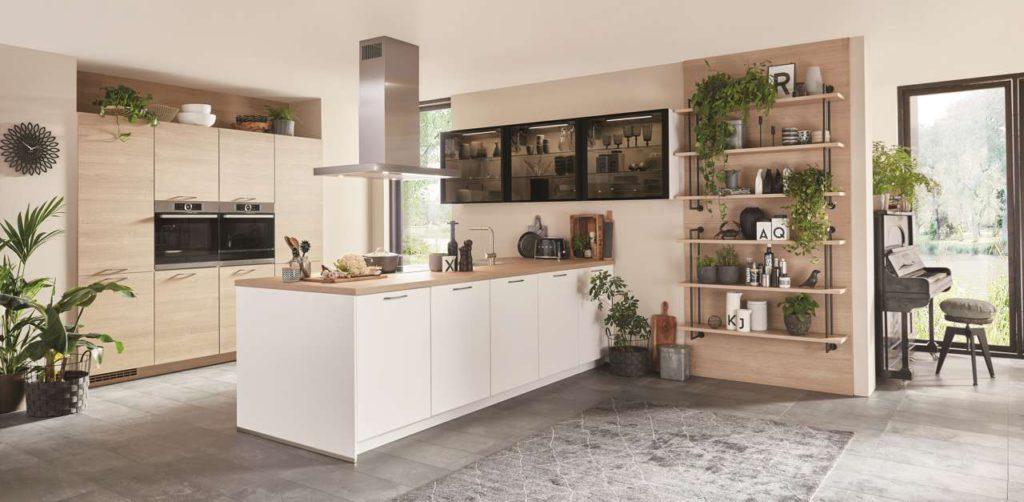 weiße Küche, Wohnküche