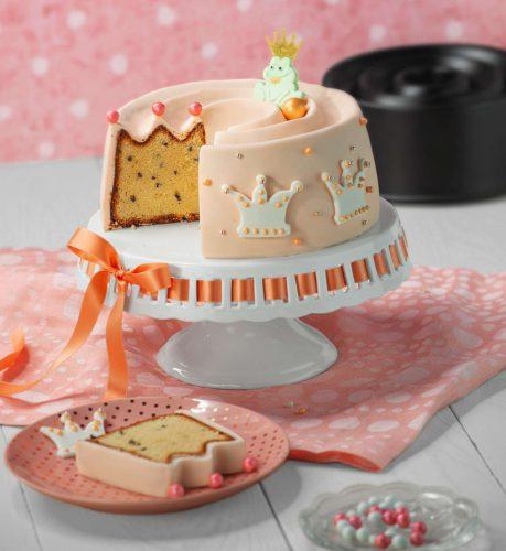 Backform Krone, Kronenkuchen, Kuchen als Krone, Königskuchen