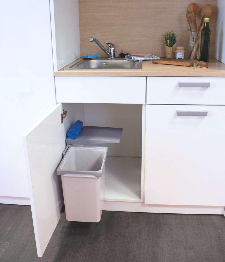 Abfalleimer kleine Küche, Mülltrennung kleine Küche