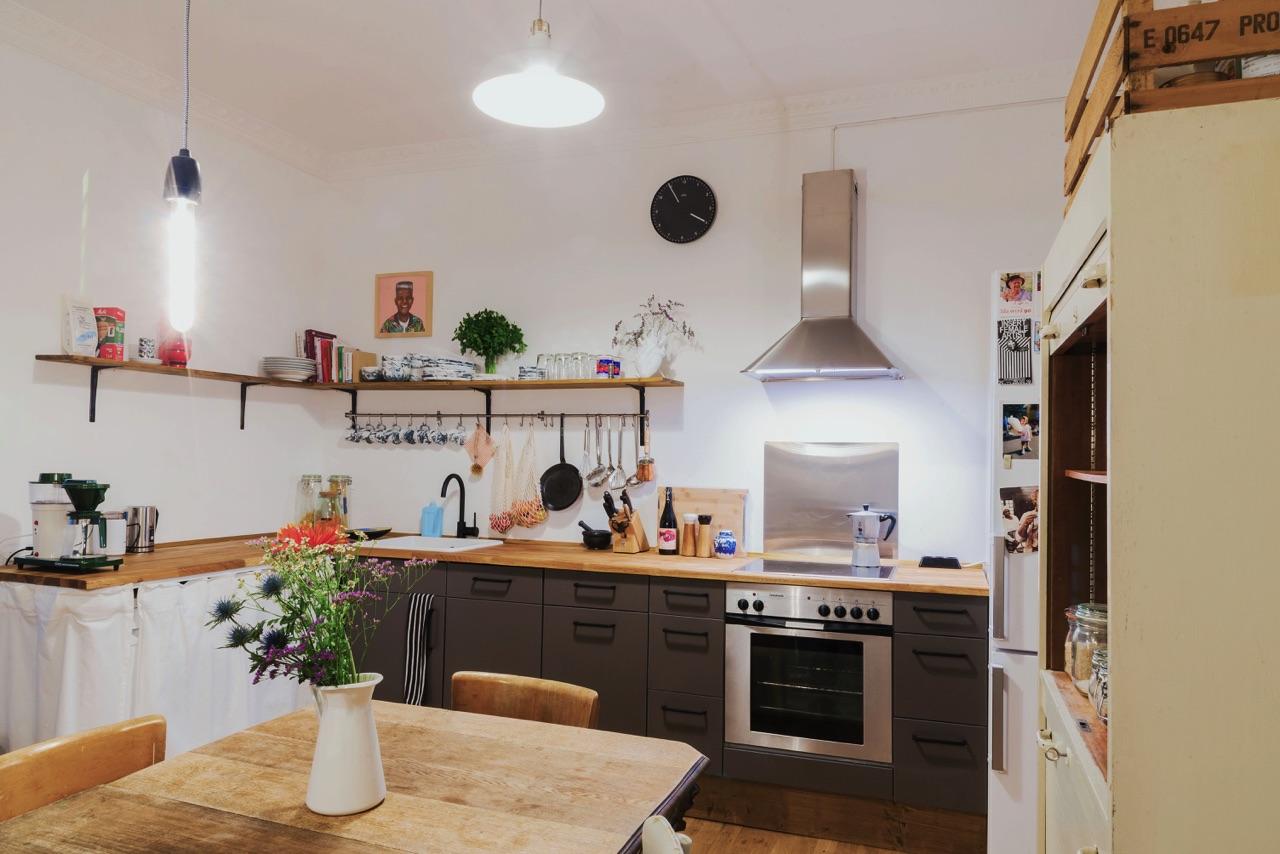 Küchenverschönerung Nachher mit Vorhang – Küchen Journal